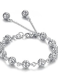 Women's Silver Plated Hollow Ball Bracelet Jewelry Christmas Gifts