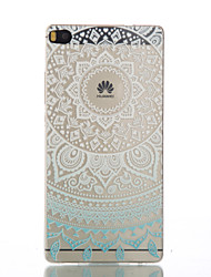 Pour Coque Huawei Transparente Coque Coque Arrière Coque Mandala Flexible PUT pour HuaweiHuawei P9 Huawei P9 Lite Huawei P8 Huawei P8