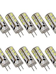 3w g4 led bi-broches t 24 cms 2835 280 lm blanc chaud / blanc froid décoratif dc 12 10 pcs