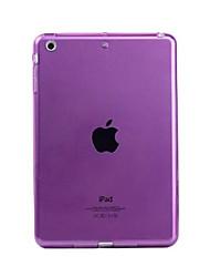 Pour Transparente Coque Coque Arrière Coque Couleur Pleine Flexible PUT pour Apple iPad Mini 4 iPad Mini 3/2/1