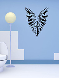 4124 Angel Wings Cross Wall Stickers Jesus God Bless Church Bedroom Decorations Christmas Vinyl Home Decals Art