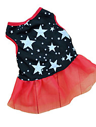 Cat / Dog Dress Black Summer Stars Wedding / Cosplay
