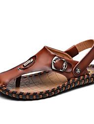 Men's Handmade Genuine Leather Slippers Outdoor Flip-Flops Comfortable Sandals