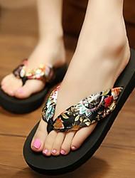Women's Summer Silk Casual Flat Heel Black