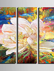 E-HOME® Stretched Canvas Art Abstract Painting Decoration Painting  Set of 3