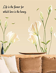 Botanical Romance Still Life Fashion Florals Landscape Fantasy Wall Stickers Plane Wall Stickers Decorative Wall Stickers,Paper Material