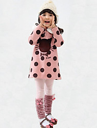 Girl's Green / Orange / Pink Clothing Set Rayon Winter / Fall