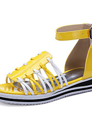 Women's Shoes Wedge Heel / Platform / Gladiator Sandals Party & Evening / Dress / Casual Black / Yellow / White