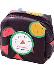 Creative Popular Practical Square Shape Watermelon Canvas Coin Purse Wallet Storage Organizer Bag Gifts