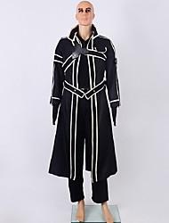 Inspiré par Sword Art Online Kirito Anime Costumes de cosplay Costumes Cosplay Couleur Pleine Noir Manche Longues Cape / Pantalons Hakama