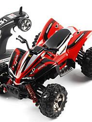 Motorcycle SUBOTECH BG1510A 1:24 Brush Electric RC Car 40KM/H 2.4G Red / Yellow Ready-To-GoRemote Control Car / Remote