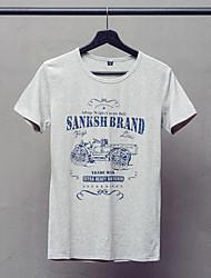 The new summer men's T-shirt cotton Crewneck T-shirt Short Sleeve Shirt Mens Shirt Korean tide