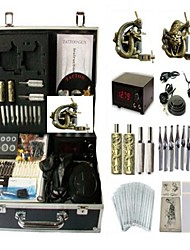 Basekey Tattoo Kit K0142 2Guns Machine With Power Supply Grips Cleaning Brush  Needles