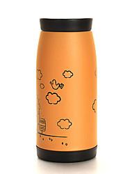 coreano estilo 350ml grande estômago de aço inoxidável garrafa térmica de vácuo copo
