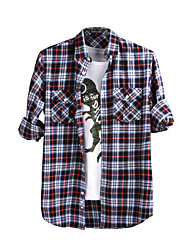JamesEarl Herren Hemdkragen Lange Ärmel Shirt & Bluse Rot - M61XC001401