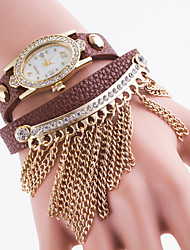 Women's European Style New Fashion Chain Tassel Rhinestone Wrapped Bracelet Watch Cool Watches Unique Watches