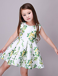 Girl's Casual/Daily Dress,Rayon Summer Green