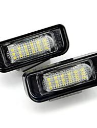 2pcs ben-z W220 levou licença placa lâmpada 12v 14w levou com descodificador levou especial