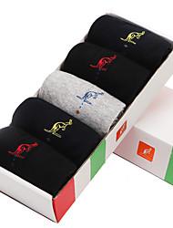 L'ALPINA® Men's Solid Color Medium 5/box Socks-31177