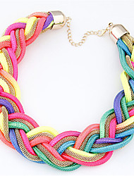Necklace Chain Necklaces Jewelry Wedding / Party / Daily / Casual Fashion Alloy / Flannelette / Nylon Gold 1pc Gift