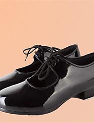 Chaussures de danse(Noir) -Non Personnalisables-Talon Bas-Similicuir-Claquettes