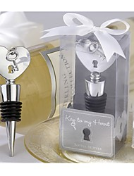 """Key To My Heart"" Chrome Bottle Stopper"
