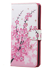 Plum Blossom Magnetic PU Leather wallet Flip Stand Case cover for Huawei Ascend P9