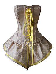 YUIYE® Women Elegant Yellow Push Up Bra Sexy Corset Dresses Waist Shaper Overbust XXL Sexy Lingerie Corset Waist Cincher