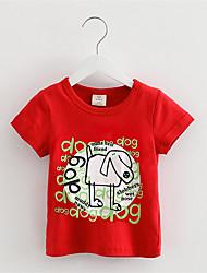 Jungen T-Shirt - Baumwolle Druck Sommer / Ganzjährig / Frühling / Herbst