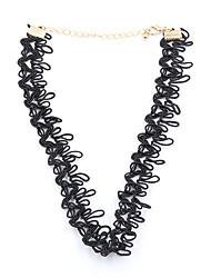 Fashion Women Trendy Lace Plaited Choker