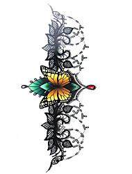 1 Tatouages Autocollants Autres Non Toxique Grande Taille Tribal Bas du Dos Imperméable Métallique Vente FlashHomme Adulte Adolescent