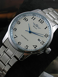 WINNER® Men's Classic Auto Mechanical Calendar Stainless Steel Band Wrist Watch Fashion Watch Cool Watches Unique Watches