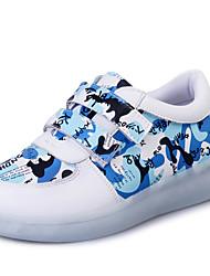 niños 'zapatos de cuero sintético llevó a zapatillas de deporte casuales / al aire libre / atlético azul / amarillo / rosa