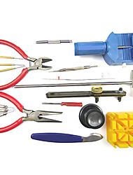 18 piezas / set kit de herramienta de reparación de la banda de reloj herramienta práctica mesa de juego de herramientas de reparación de