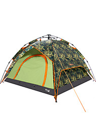 Makino 3-4 persons Tent Triple One Room Camping Tent 2000-3000 mm PolyesterWaterproof Breathability Rain-Proof Dust Proof Anti-Insect