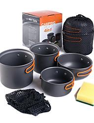HN Алюминиевый сплав Набор посуды Серый Наборы