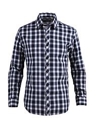 JamesEarl Hommes Col de Chemise Manche Longues Shirt et Chemisier Bleu marine - DA202028727