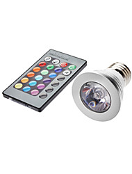 5W E26/E27 LED Spotlight MR16 1 lm RGB Remote-Controlled AC 85-265 V
