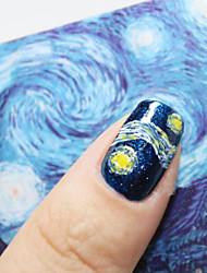 prego de jóias céu azul van Gogh