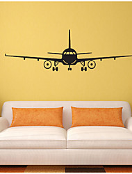 Formas / Transporte Pegatinas de pared Calcomanías de Aviones para Pared,vinyl 100*32CM