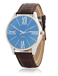 Men's Geneva Business Concise Fashion Blue Glass Quartz Wrist Watch Cool Watch Unique Watch
