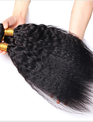 6A Mongolian Human Hair Mongolian Kinky Straight Weave 3Pcs/Lot Mongolian Virgin Hair Kinky Straight Hair