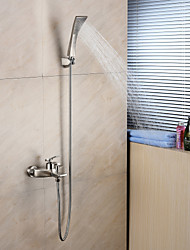 Bathtub Faucet-Contemporary-Handshower Included-Brass(Chrome)