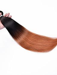 "Low Price 12""-24"" Brazilian Virgin Hair Straight Human Hair Extensions Ombre Hair 1B/30 ,Color 1b/99j Human Hair Weaves"