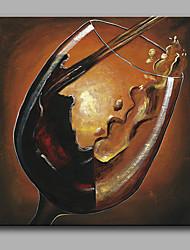 картина маслом современной абстрактной чисто ручной рисовать бескаркасных декоративной живописи красного вина стекла