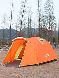 Makino 3-4 persons Tent Triple One Room Camping Tent 2000-3000 mm Nylon PolyesterWaterproof Breathability Rain-Proof Dust Proof