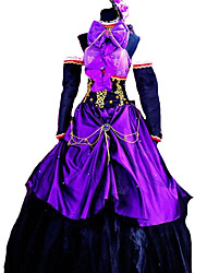Inspired by Vocaloid Megurine Luka Video Game Cosplay Costumes Cosplay Suits / Dresses Solid Purple Sleeveless Dress / Sleeve