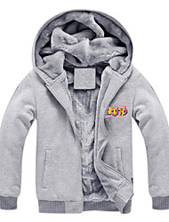 Inspired by Naruto Naruto Uzumaki Anime Cosplay Costumes Cosplay Hoodies Print Gray Long Sleeve Top