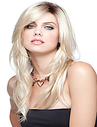 Long Straight Hair European Weave Light Blonde Hair Wig