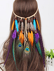 Feather, Headband, Native, American Style, Indian, Bohemian, Wedding, Feather Veil, Rainbow, Costume, Edm, Plur, Rave